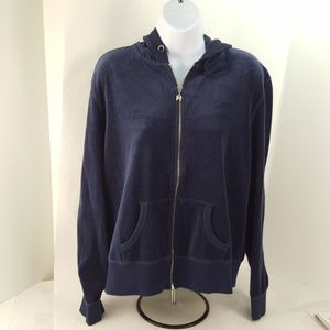 Victoria's Secret XL Indigo Velour Hoodie